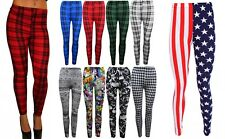 WOMENS PLUS SIZE LEGGING STRETCH PRINTED SKINNY FIT LEGGINGS LADIES PANTS