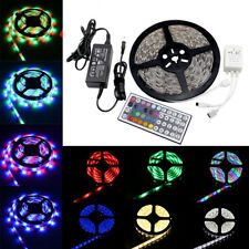 5-20M 300 SMD RGB 3528 5050 Waterproof LED Strip light Remote &12V Supply Power