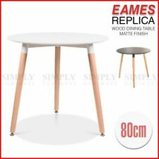 Eames Replica Dining Table Coffee Side Bedside Round Nightstand Wood White Black