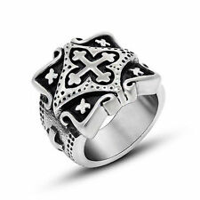 Jerusalem Cross Ring Jesus Christ Crusaders Knight Templar Personality Size 7-12