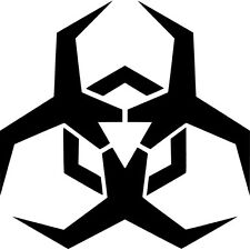 Malware Biohazard Logo Vinyl Sticker Decal JDM - Choose Size & Color