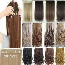 Hot Real Thick,17-30 Inch,3/4 Full Head Clip In Hair Extensions,Ombre Blonde H10