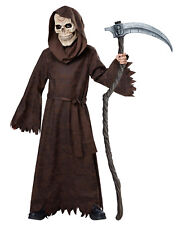 Boy's Ancient Grim Reaper Death Scary Skull Skeleton CHILD Costume + Mask