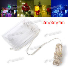 NEW LED BATTERY OPERATED MICRO SILVER WIRE STRING FAIRY PARTY XMAS WEDDING LIGHT