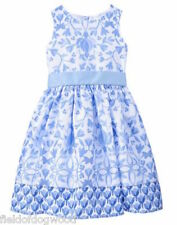 Gymboree Egg Hunt Blue floral Dress SZ 7 NWT special Occassion Wedding