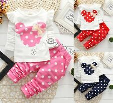 Toddler Kids Baby Girls Outfits Clothes T-shirt Tops + Dress Pants 2PCS Set 0-3T