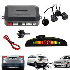4 Parking Sensors LED Display Car Backup Reverse Radar System Kit Sound Alert