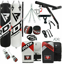 RDX Punching Bags Filled Mitts Bag Heavy Boxing Bag Gloves Punch Training MMA