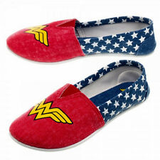 DC Comics Wonder Woman All Over Print Slip On Canvas Shoes