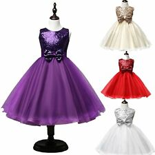 Graceful Tulle Glitter Bowknot Formal Pageant Wedding Party Princess Dress