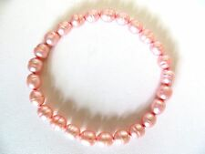 Honora Cultured Pink  Color Pearls Stretch Bracelet 6.8 MM