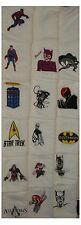 DR WHO.STAR TREK.ASSASSINS CREED.BATMAN.MARIO& MORE FACE CLOTHS/FLANNELS
