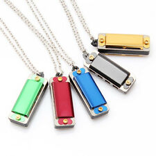 Baby Gift Cute Mini Harmonica Pendant Colorful 4 Hole 8 Tone Necklace Kids Toy