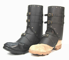 Boot Covers in Real Leather medieval steampunk costume
