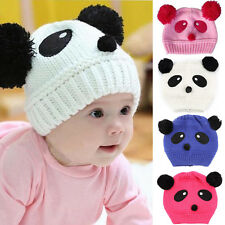 New Colorful Baby Girl Boy Child Panda Hat Knit Winter Crochet Cap Knit Beanie