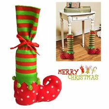Santa Claus Elf Shoe Boot Suspenders Stocking Christmas Socks Candy Gift Bag