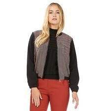 Principles By Ben De Lisi Womens Black Parque Pattern Bomber Jacket