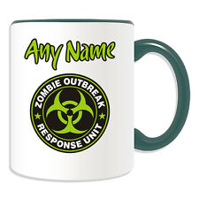 Personalised Gift Zombie Outbreak Response Unit Mug Money Box Cup Walking Dead