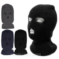 3 Hole Full Face Mask Winter Beanie Ski Snowboard Hat Cap Knit Wear Balaclava