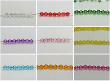 500 Transparent Faceted Acrylic Bicone Spacer Beads 6mm Pick Your Color