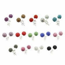 TOP QUALITY 10mm DISCO BALL STUD EARRINGS / CRYSTAL CLAY