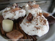 PARASOY..GRUBBY SMORES' TART OR SMORES CANDLE/VOTIVE EMBEDS,CHOCOLATE,BAKERY