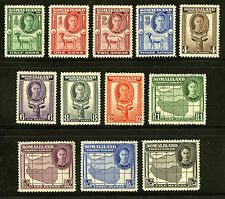 Somaliland Protectorate   1942   Scott # 96-107   Mint Never Hinged Set