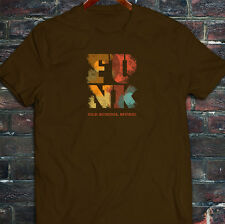 Funk Old School Vintage Music Classic Retro Disco Mens Brown T-Shirt