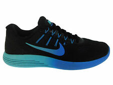 NEW WOMENS NIKE LUNARGLIDE 8 RUNNING SHOES TRAINERS BLACK / DEEP ROYAL BLUE / PH