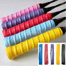 New Stretchy Anti Slip Racket Over Grip Roll Tennis Badminton Handle Grip Tape A