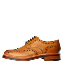 New Mens Grenson  Archie Brogues - Tan 100% Leather