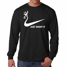 Shirt Just Shoot It T Long Sleeve Hunting Tee Funny S Deer Horn Dad Life Hunter