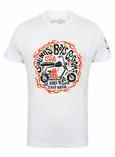 Salinas Boys T-Shirt Shirt Men Live Hard, Ride Hard, Stay Hard White/Weiß
