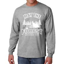 Long Sleeve Forest Be With You T Shirt Camping T Hiking Camp Tee Gift Outdoor Ts