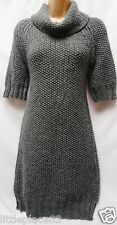 BNWT NEXT new Ladie mid grey Chunky knit jumper dress longline tunic 6/8