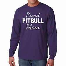 T Shirt Pitbull Mom Long Sleeve Dog S Pet Animal Lover Pup Mother Funny Breed L