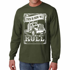 Long Sleeve Truckers Roll T Shirt Funny S Road Dust Truck Tee Dad Gift Father Ts