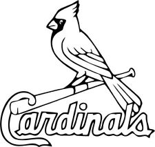 St. Louis Cardinals MLB Baseball Logo Vinyl Car Window and Laptop Decal Sticker