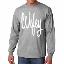 Long Sleeve Wifey T Shirt Funny S Wife Bride Shower Tee Gift Marriage Mom Humor