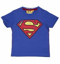 Official Kids Blue DC Comics Superman Logo T-Shirt from Fabric Flavours
