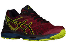 NEW MENS ASICS GEL-CUMULUS 18 RUNNING SHOES TRAINERS POMEGRANATE / BLACK / SULPH