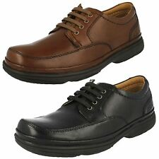 MENS CLARKS LEATHER LACE UP FLEXLIGHT ACTIVE AIR WIDE CASUAL SHOES SWIFT MILE