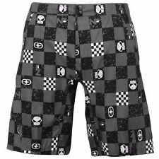 Mens Branded No Fear All Over Pattern Loop Tape Board Shorts Pants Bottoms
