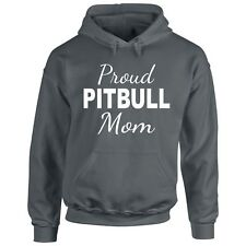 Pitbull Mom Hoodie Proud Sweatshirt S Dog Lover Pullover Mother Animal Canine Ts