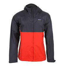 New Mens Patagonia  Torrentshell Jacket - Navy Blue/Ramble Red