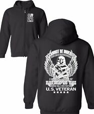 Zipper Hoodie Veteran Title US T Pullover Army Military Hero Blood Sweat Tears L