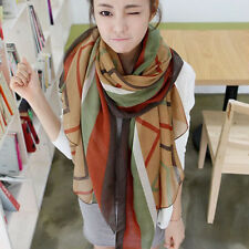 Lady Scarf Women's Summer Beach print Long Soft Wrap Shawl Silk Chiffon Scarves