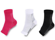 1 Pair Foot Anti Fatigue Compression Sleeve Circulation Ankle Socks Relief Pain