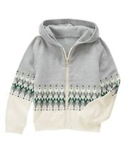NWT Gymboree ALL SPRUCED UP Girls Zip Hoodie Cardigan Sweater Jacket XS 4 5-6