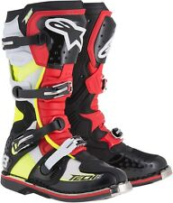 ALPINESTARS MX Motocross Offroad TECH 8RS Boots (Black/Red/Yellow) Choose Size
